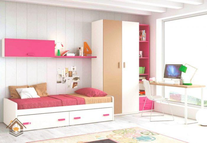 phòng ngủ màu hồng 1