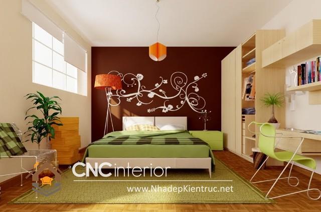 phòng ngủ màu xanh (2)