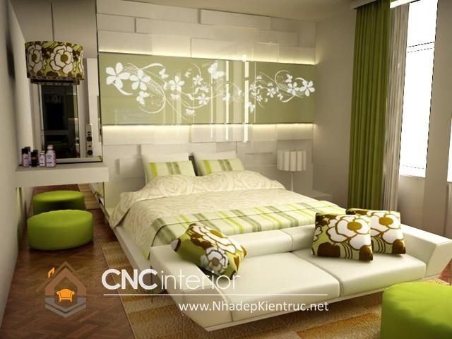 phòng ngủ màu xanh (3)