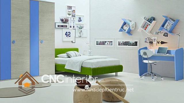 phòng ngủ màu xanh (7)