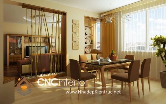 thiết kế vách ngăn phòng khách và bếp (3)