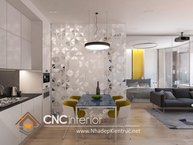 thiết kế vách ngăn phòng khách và bếp (7)