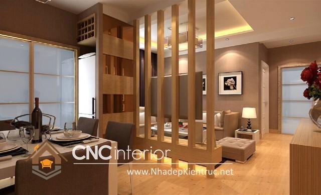 thiết kế vách ngăn phòng khách và bếp (8)