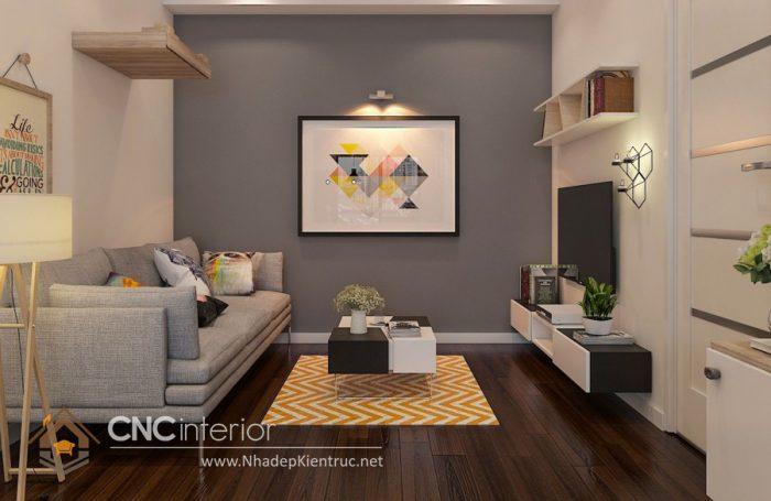 Thiết kế nội thất phòng khách chung cư nhỏ đẹp