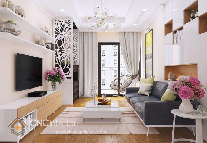 Thiết kế chung cư phòng khách nhỏ đẹp
