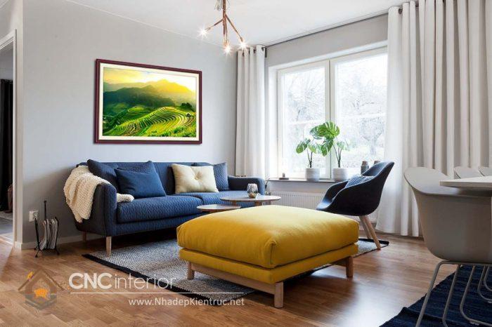 Thiết kế phòng khách chung cư nhỏ đẹp