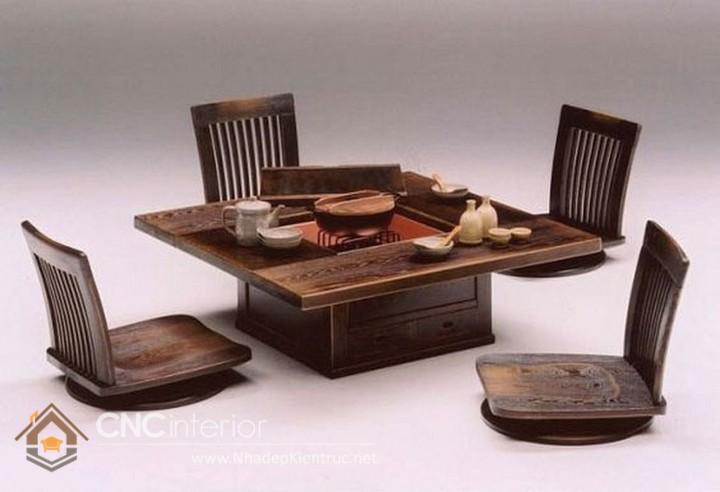 bàn ngồi bệt kiểu nhật 2