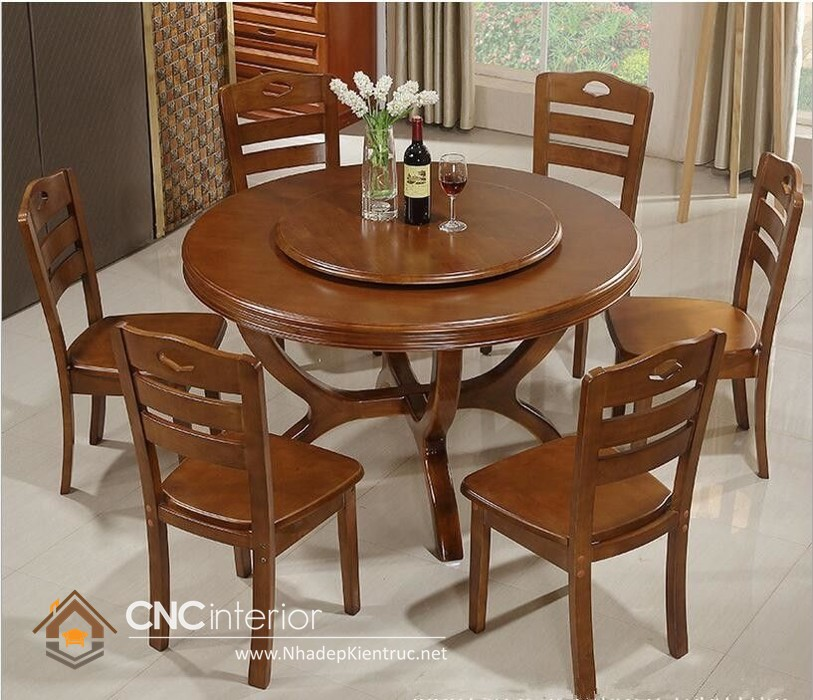 mẫu bàn tròn gỗ