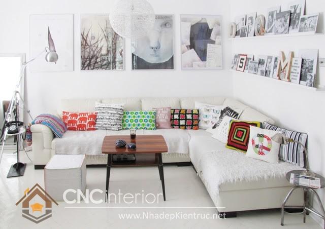 bàn ghế phòng khách nhỏ gọn (2)