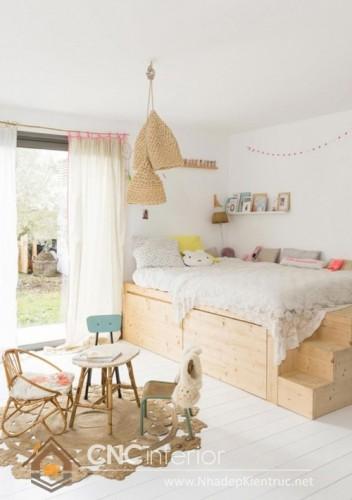 mẫu giường ngủ gỗ đẹp cho bé (6)