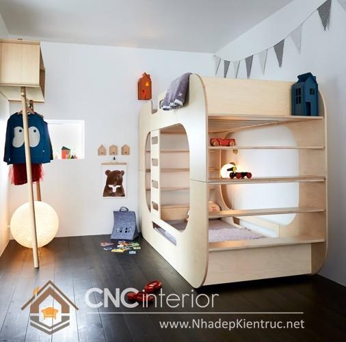 mẫu giường ngủ gỗ đẹp cho bé (7)