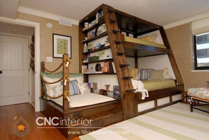 Mẫu giường tầng gỗ đẹp (5)