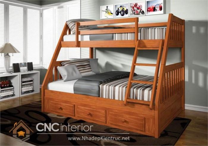 Mẫu giường tầng gỗ đẹp (6)
