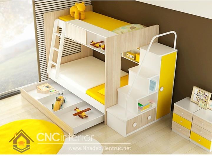 giường 2 tầng bằng gỗ 01