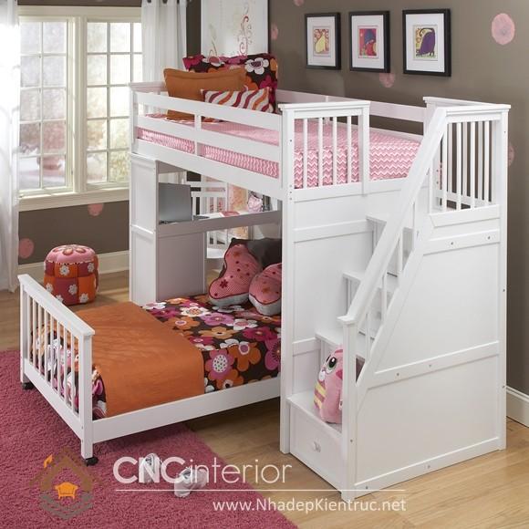 giường 2 tầng bằng gỗ 04