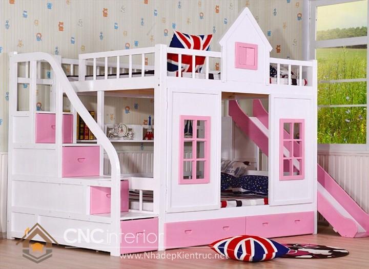 giường 2 tầng bằng gỗ 05