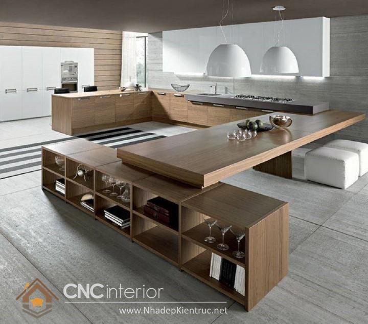 không gian bếp đẹp cho nhà ống 01