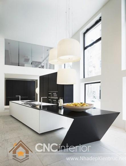 không gian bếp đẹp cho nhà ống 02