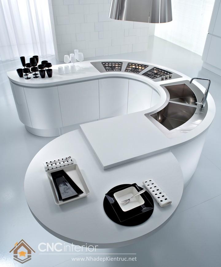 không gian bếp đẹp cho nhà ống 04