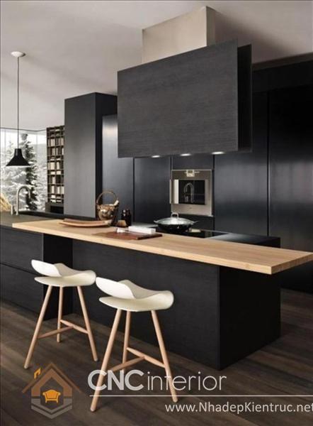 không gian bếp đẹp cho nhà ống 05