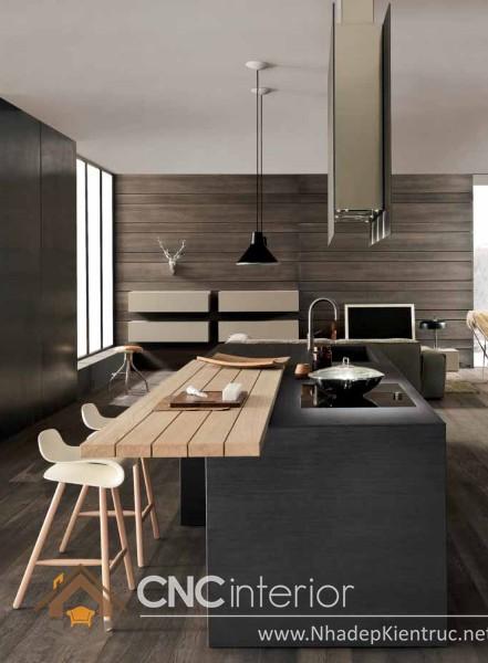 không gian bếp đẹp cho nhà ống 06