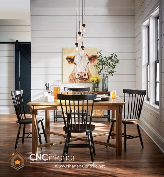 trang trí phòng ăn đơn giản
