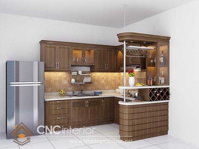 mẫu phòng bếp đơn giản 02