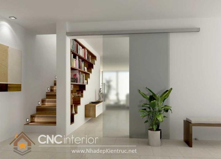 mẫu vách ngăn phòng khách và cầu thang 06