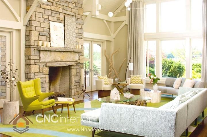 thiết kế phòng khách bằng gỗ 02