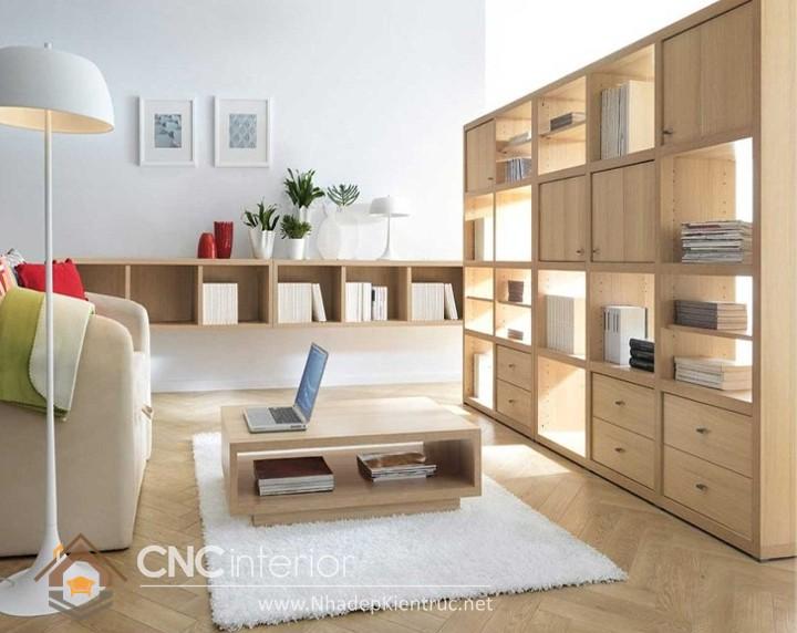 thiết kế phòng khách bằng gỗ 04