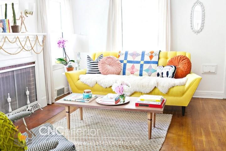 thiết kế phòng khách bằng gỗ 05