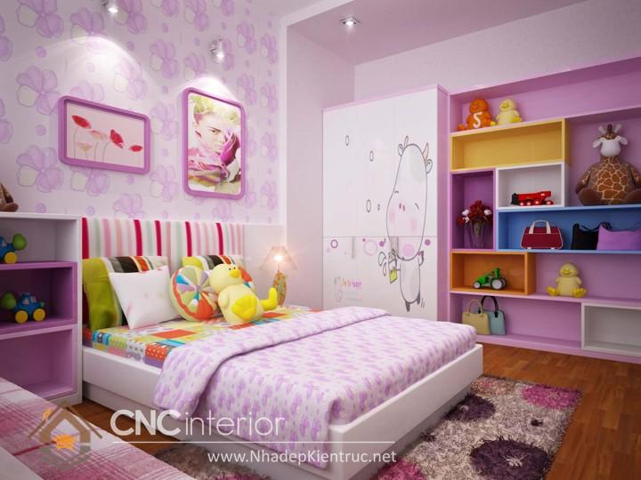 Giấy dán tường phòng ngủ bé gái 01