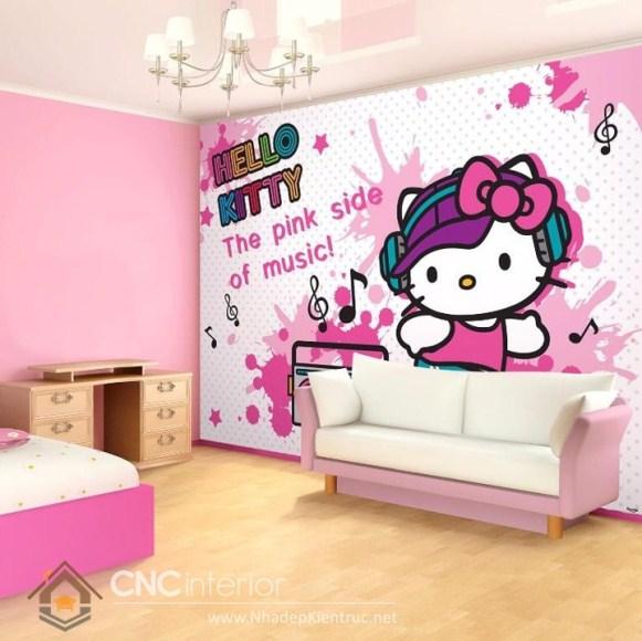 Giấy dán tường phòng ngủ bé gái 03