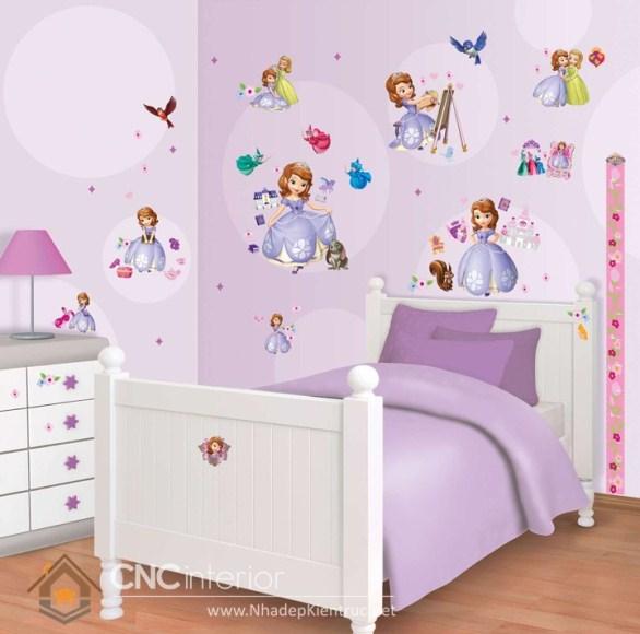 Giấy dán tường phòng ngủ bé gái 04