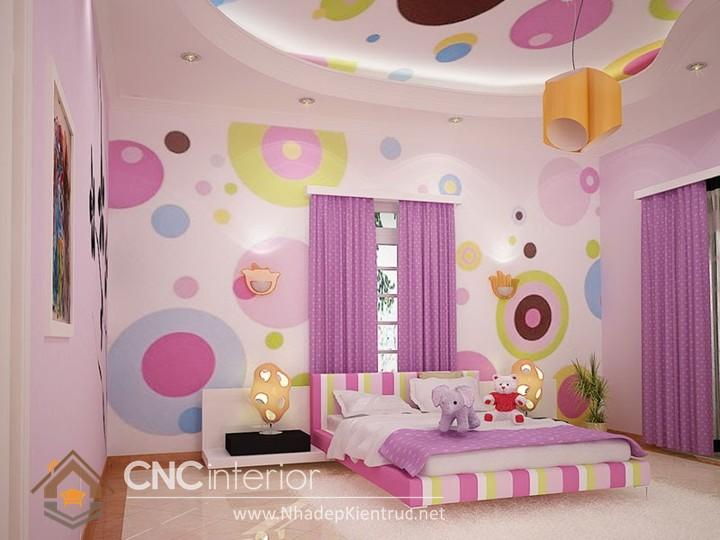 Giấy dán tường phòng ngủ bé gái 05