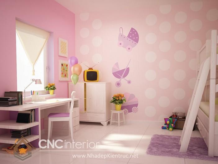 Giấy dán tường phòng ngủ bé gái 06