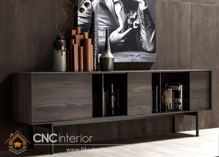 tủ gỗ trang trí phòng khách 01
