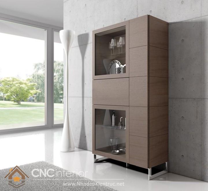 Tủ gỗ trang trí phòng khách 02