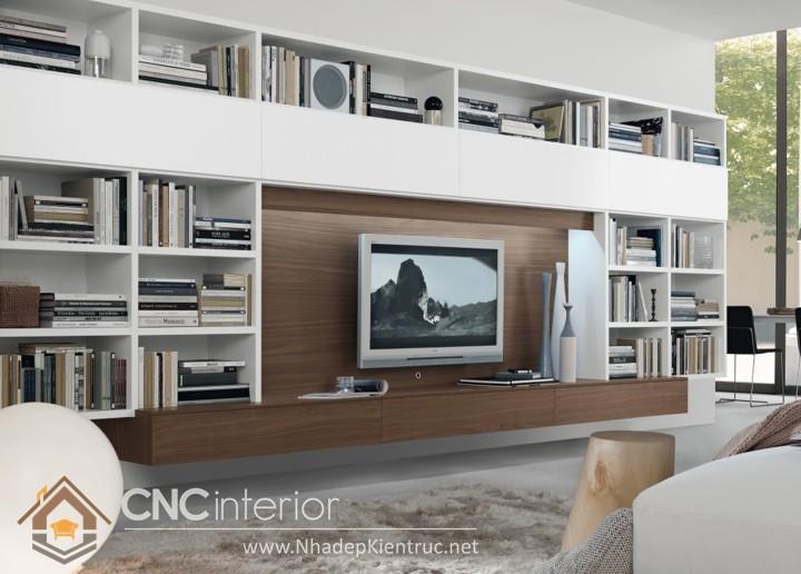 tủ gỗ trang trí phòng khách 05