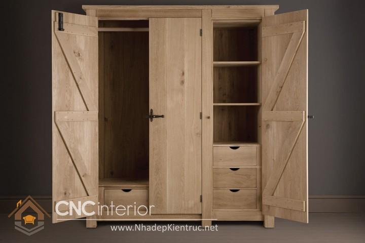 tủ quần áo gỗ sồi 03
