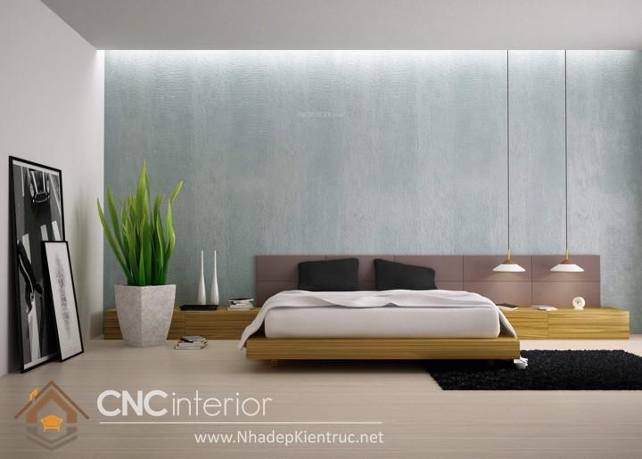 Giấy dán tường phòng ngủ màu xanh 04