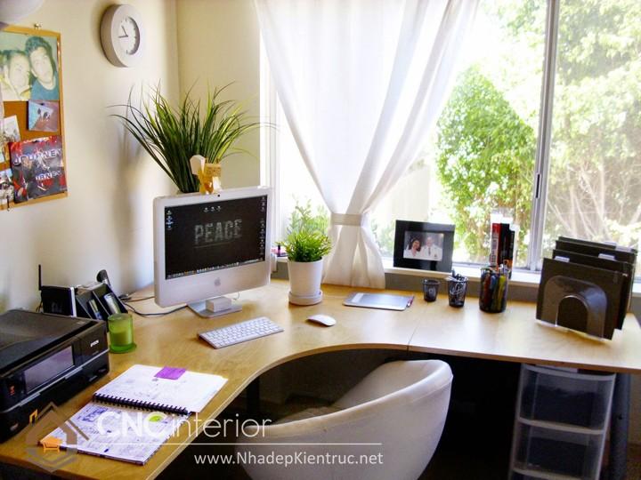 thiết kế phòng làm việc tại nhà 01