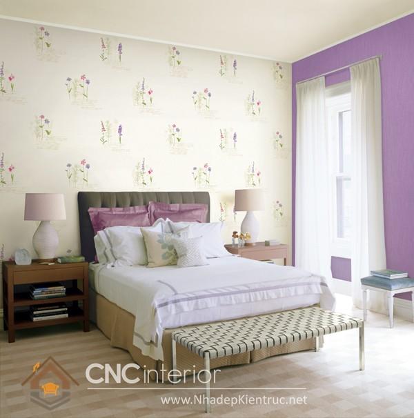 các mẫu giấy dán tường phòng ngủ 01