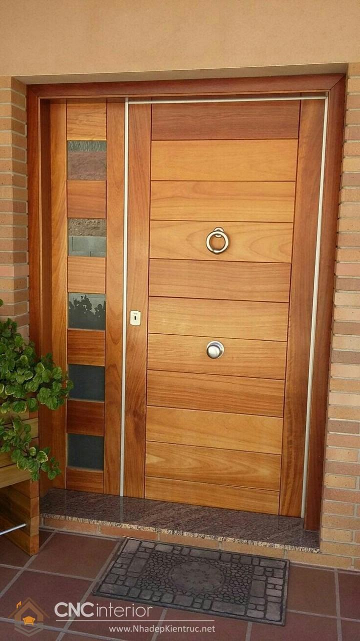 Mẫu cửa chính nhà ống đẹp 03