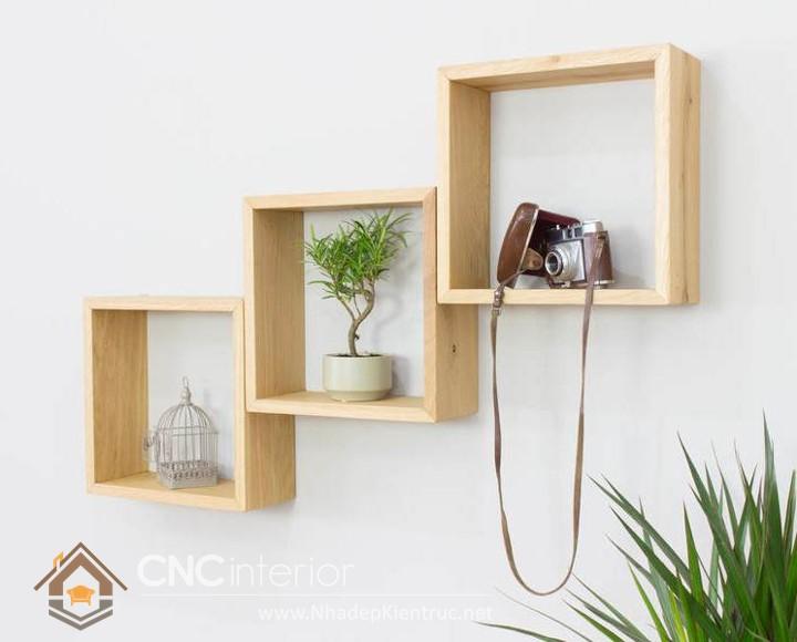 Mẫu kệ gỗ trang trí phòng khách 03