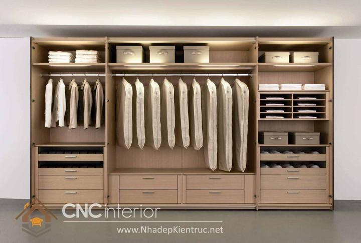 Mẫu tủ gỗ đựng quần áo đẹp 01