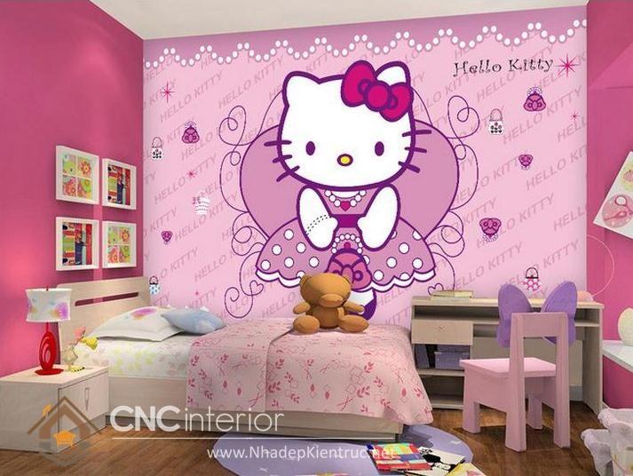 Giấy dán tường Hello Kitty 02