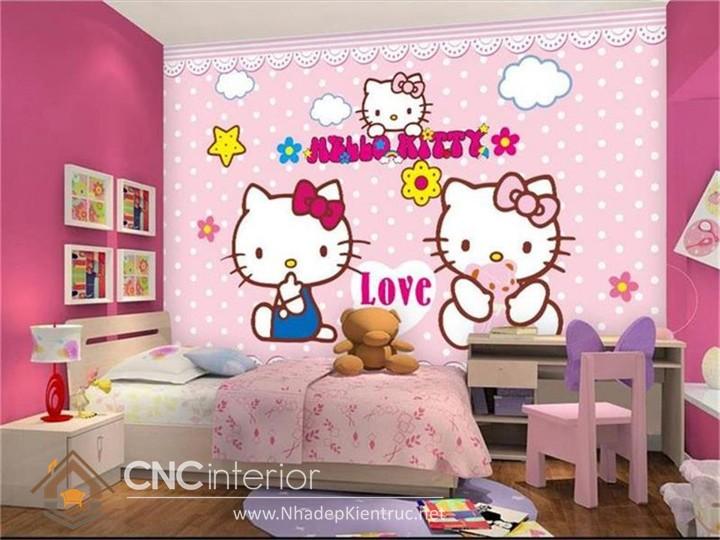 Giấy dán tường Hello Kitty 04