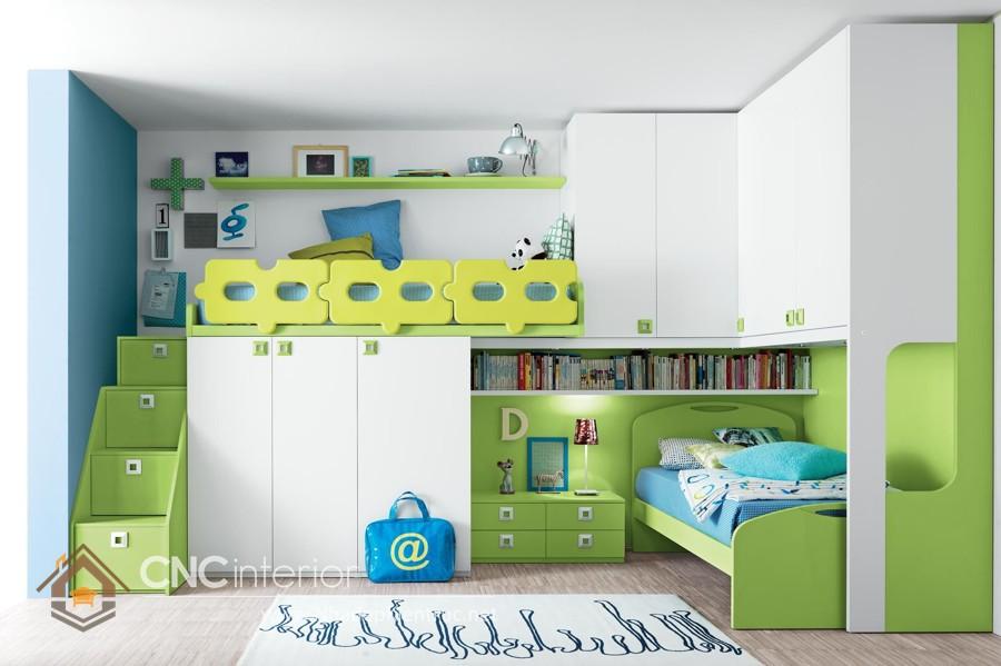 Giường kết hợp bàn học và tủ đồ 1
