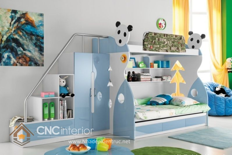 Giường kết hợp bàn học và tủ đồ 3